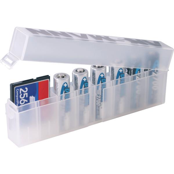 Batterie-/Akku-Box, für 8 Zellen AA/AAA, weiß