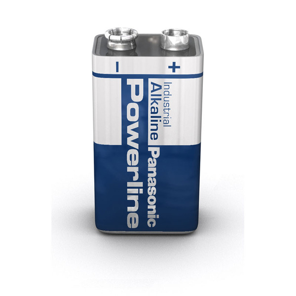 Panasonic Powerline Alkaline Batterie 9 Volt Block, 1er Pack