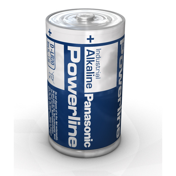 Panasonic Powerline Alkaline Batterie Mono D