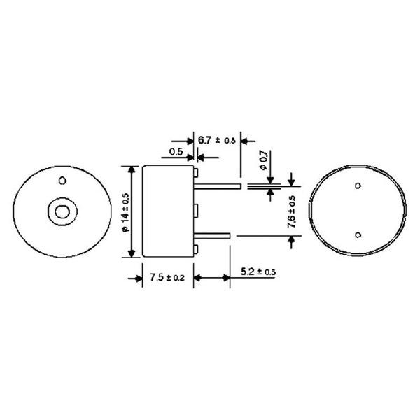 HITPOINT Piezo-Signalgeber mit integrierter Treiberschaltung 3–15 V, 3,8 kHz
