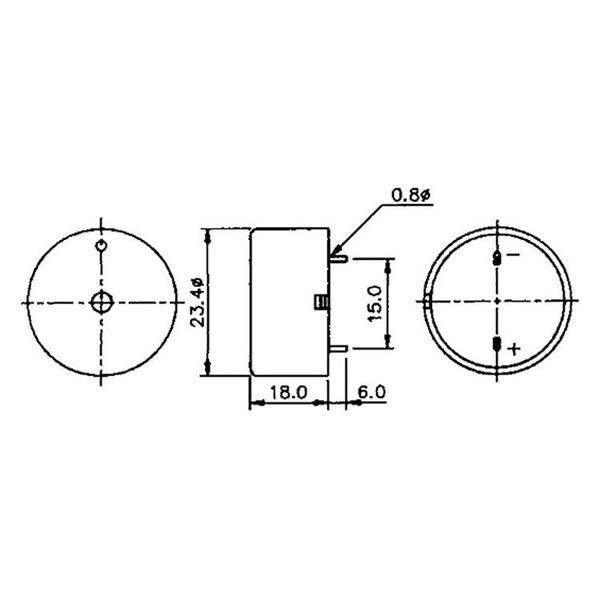 HITPOINT Piezo-Signalgeber mit integrierter Treiberschaltung 3–28 V, 3,8 kHz