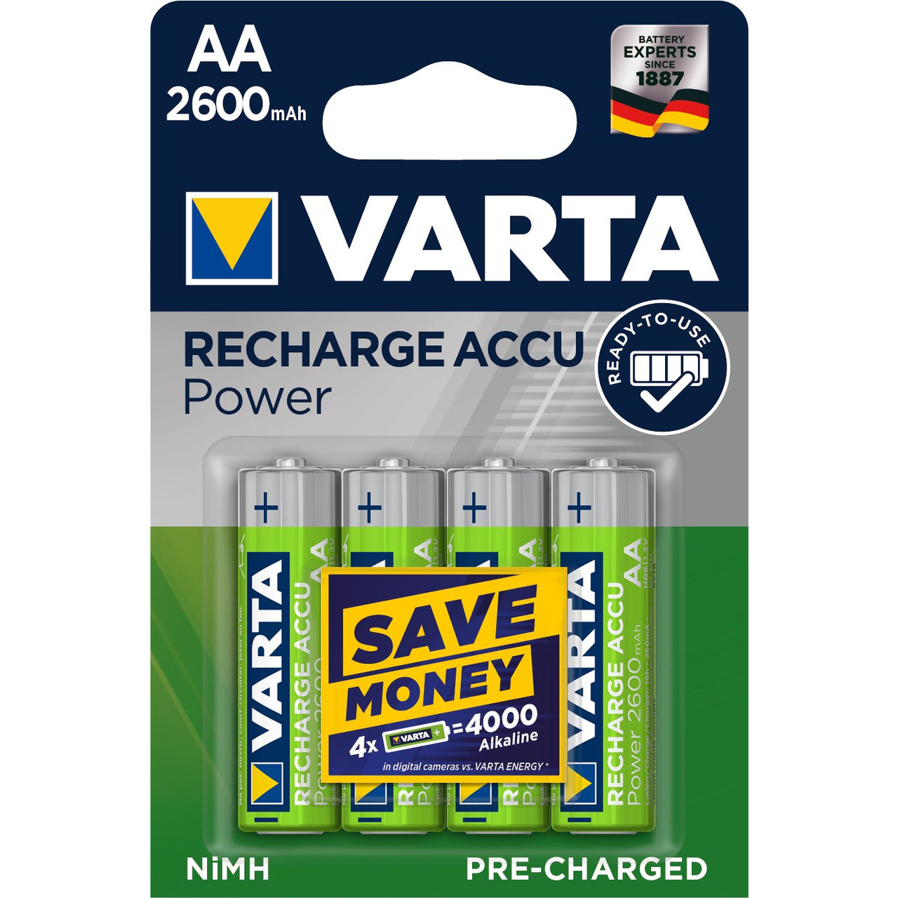 Varta Recharge Akku Power AA 2600mAh- 4er Pack