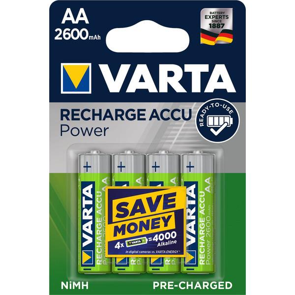 Varta Recharge Akku Power AA 2600mAh, 4er Pack
