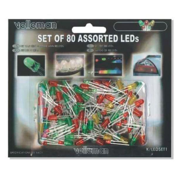Velleman LED-Sortiment K/LED1, 80 teilig