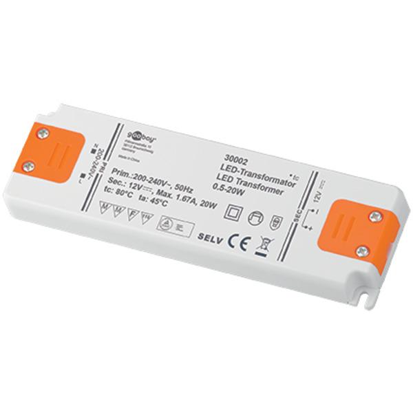 goobay 20-W-LED-Netzteil superflach, 12 V DC