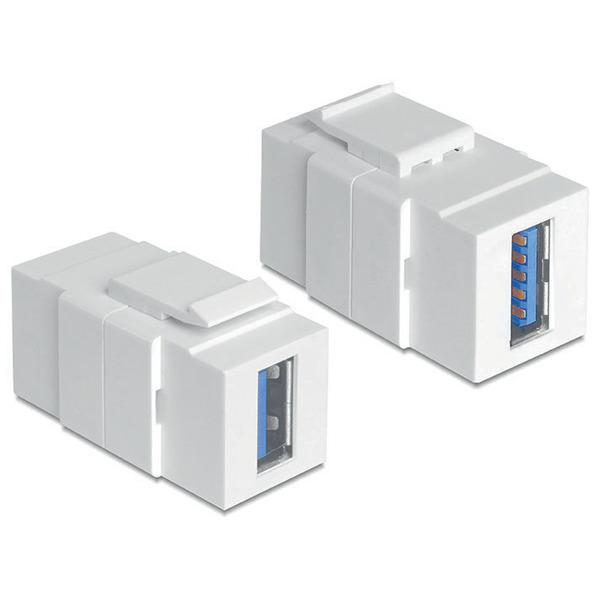 Delock Keystone USB 3.0 A-Buchse > USB 3.0 A-Buchse