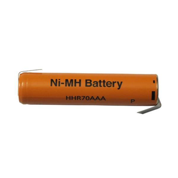 Panasonic NiMH-Zelle mit Lötfahne (Micro-AAA) HHR-70AAA-1Z, 700 mAh