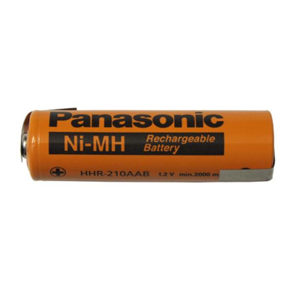 Panasonic NiMH-Zelle mit Lötfahne (Mignon-AA) HHR-210AA-1Z, 2000 mAh