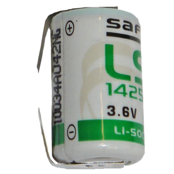 Saft Lithium Batterie mit Lötfahne LS-14250CNR, 1/2 Mignon AA, 3,6 V, 1200 mAh