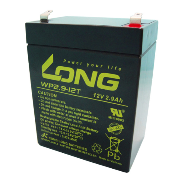 Kung Long Blei-AGM-Akku WP2.9-12T, 12 V, 2,9 Ah