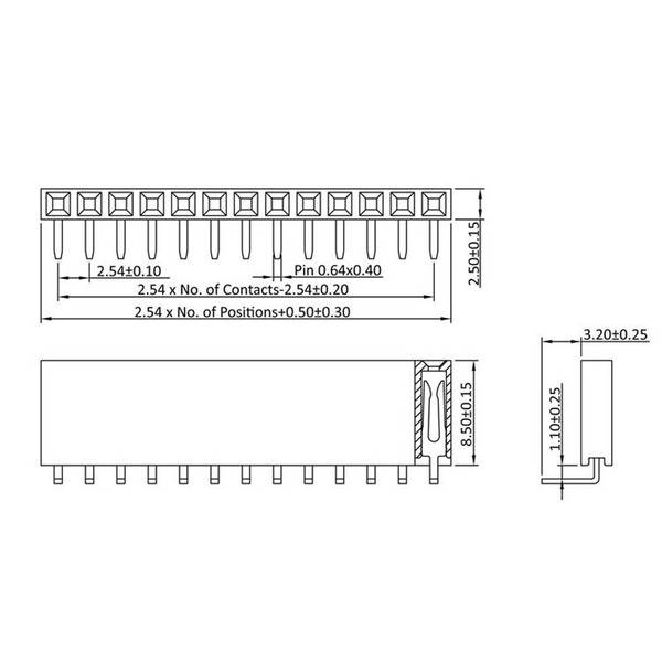 econ connect Buchsenleiste BL5/1W8, 1x 5-polig, Körperhöhe 8,5 mm, gewinkelt, nicht trennbar