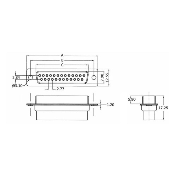 econ connect Sub-D-Buchsenleiste BU15CR, 15-polig, Crimpmontage