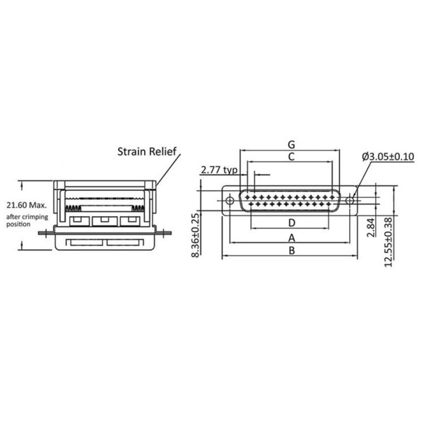 econ connect Sub-D-Stiftleiste ST15SK/F, 15-polig, Schneidklemme