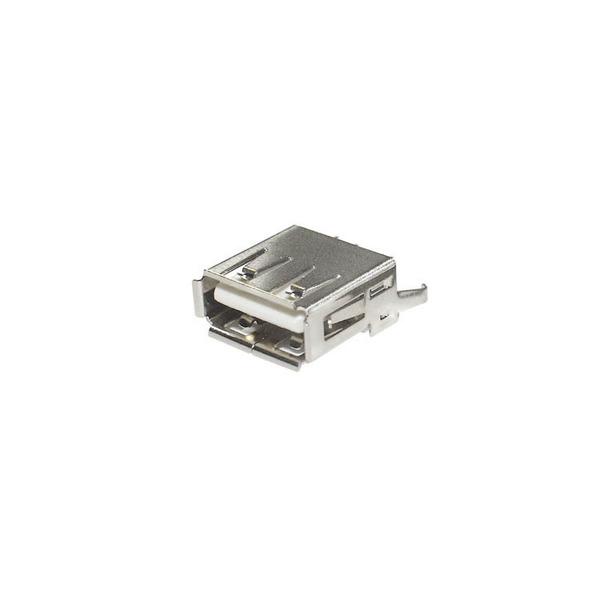 econ connect USB-Buchse 2.0 Typ A UBU1AH, Printmontage, vertikal