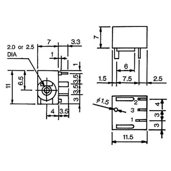 econ connect DC-Einbaubuchse DCE4A, 2,1 mm, print