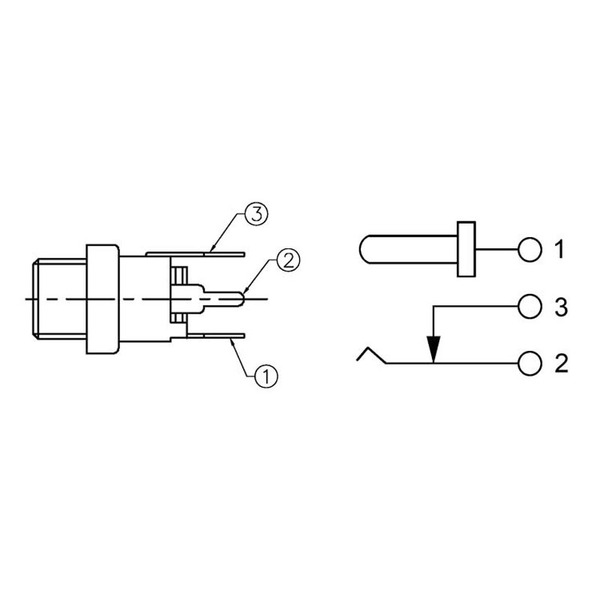 econ connect DC-Einbaubuchse DCE5AP, 2,1 mm, vertikal