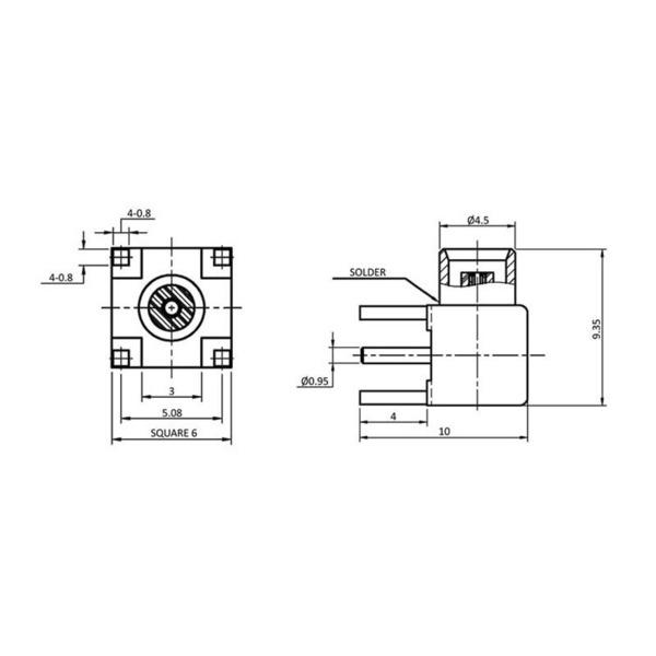 econ connect MCX-Anbaubuchse MCX6F, gewinkelt, print