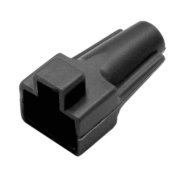 econ connect Knickschutz KSM8SW, Kabeleinlassöffnung Ø 5,5 mm, Länge 28,0 mm, schwarz