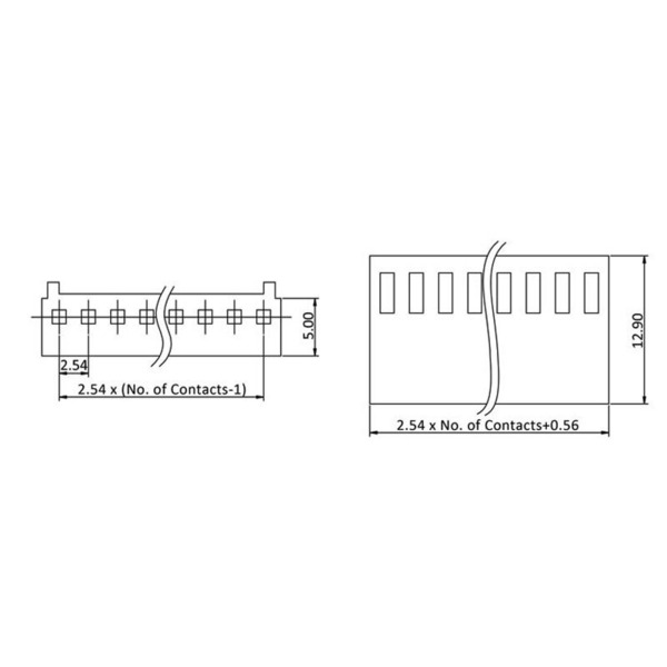 econ connect Steckverbinder PS10, 1x 10-polig, 30 cm, RM 2,54 mm