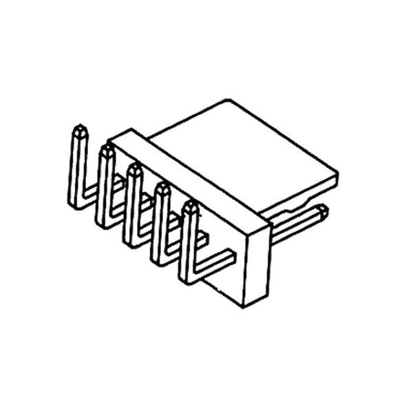 econ connect Stiftleiste PSL10W, 1x 10-polig, gewinkelt, RM 2,54 mm