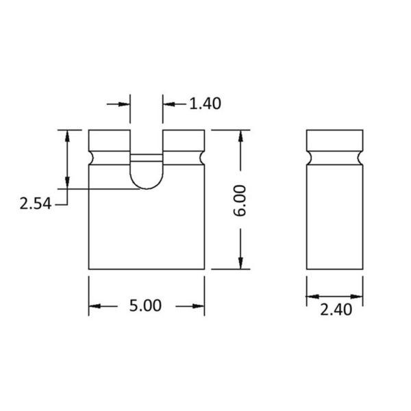 econ connect Jumper SHSW, 6,0 mm, offen, schwarz, RM 2,54