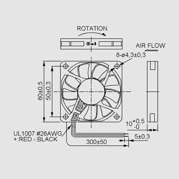 SUNON 12-V-Axial-Lüfter MF60101V2-A99 60 x 60 x 10 mm