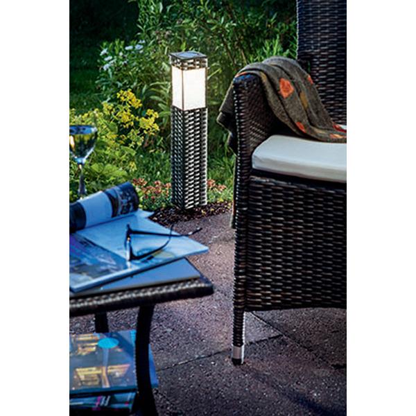 esotec Solar-LED-Standleuchte Rattan