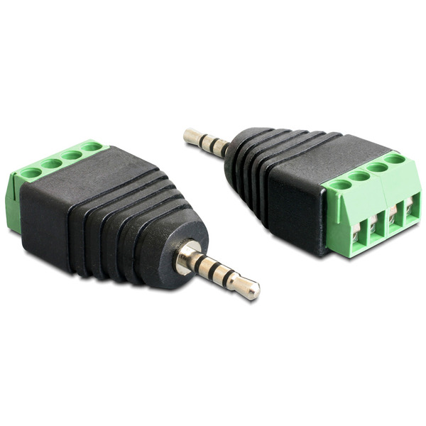 Delock Adapter Terminalblock > Klinke 2,5 mm Stecker 4 Pin