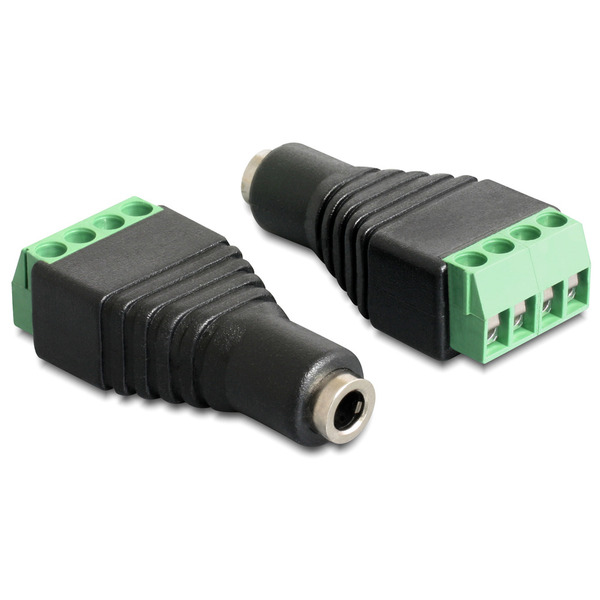Delock Adapter Terminalblock > Klinke 3,5 mm Buchse 4 Pin