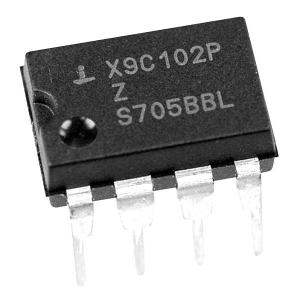 Intersil Digital-Potentiometer X9C103PZ, 10 kΩ, 100 Tap, DIP8