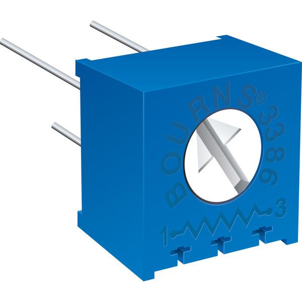 Bourns Trimmer 3386X-1-501LF, liegend, 500 Ω