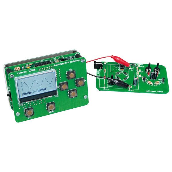 Velleman Bausatz Oszilloskop-Lernpaket LCD-Display EDU08