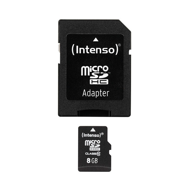 Intenso microSD-Karte, Class 10, mit SD-Adapter, 40 MB/s, 8 GB