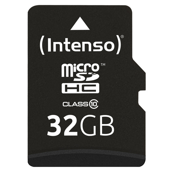 Intenso microSD-Karte, Class 10, mit SD-Adapter, 40 MB/s, 32 GB