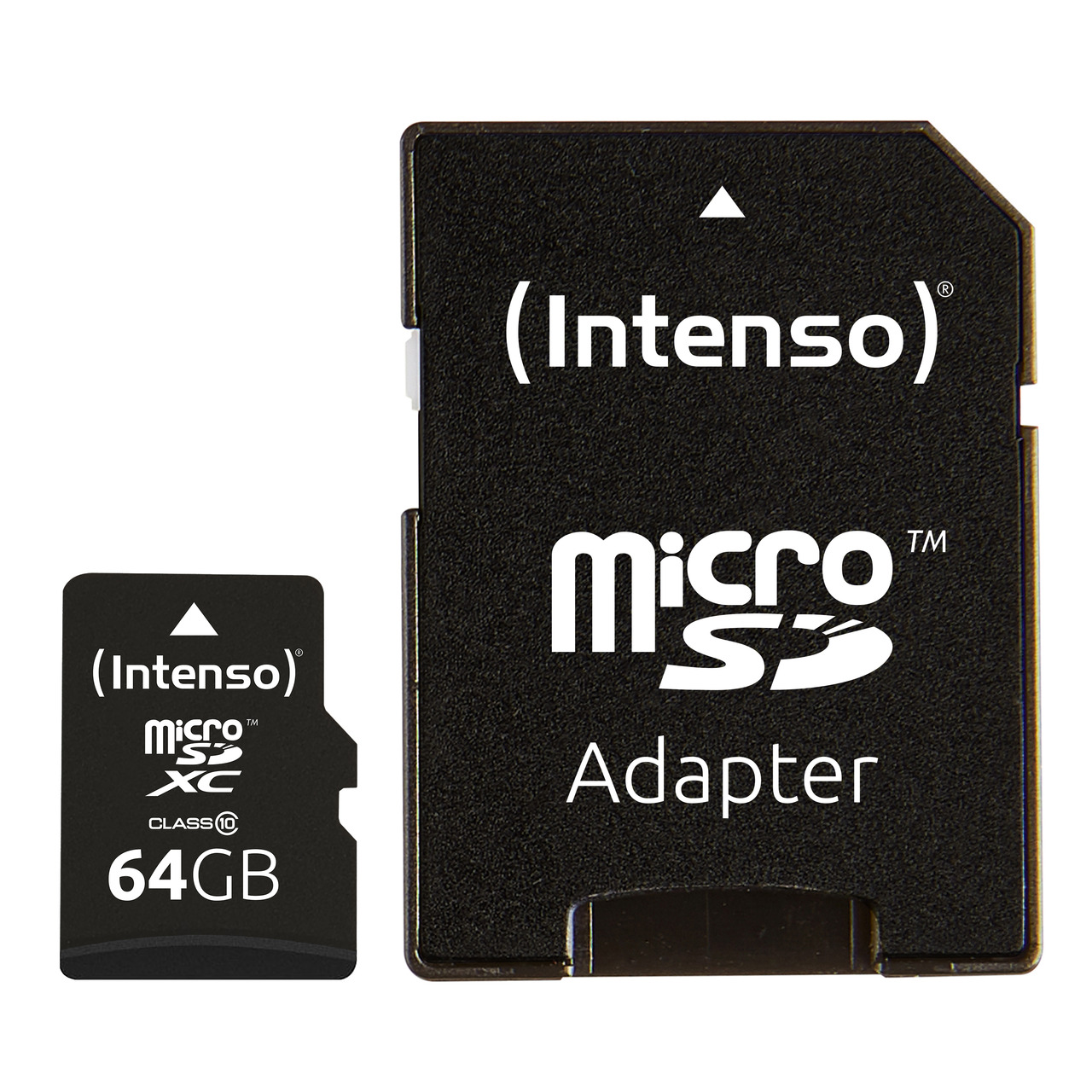 Intenso microSDXC-Karte- Class 10- mit SD-Adapter- 40 MB-s- 64 GB