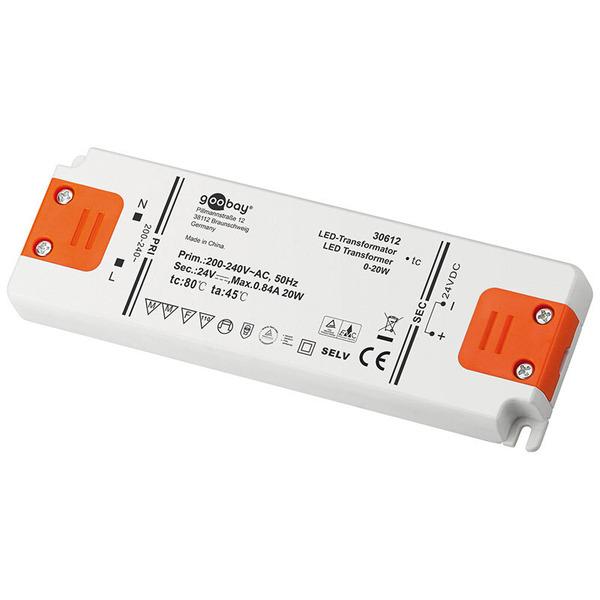 goobay 20-W-LED-Netzteil slim, 24 V DC