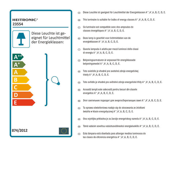 HEITRONIC Edelstahl-Einbaustrahler DL6802, schwenkbar, eckig, IP20