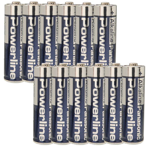Panasonic Powerline Alkaline Batterie LR6 (Mignon/AA), 12er Set
