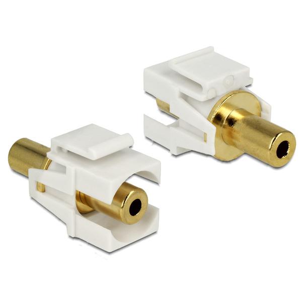 Delock Keystone Klinke-3,5 mm-Buchse > Buchse vergoldet