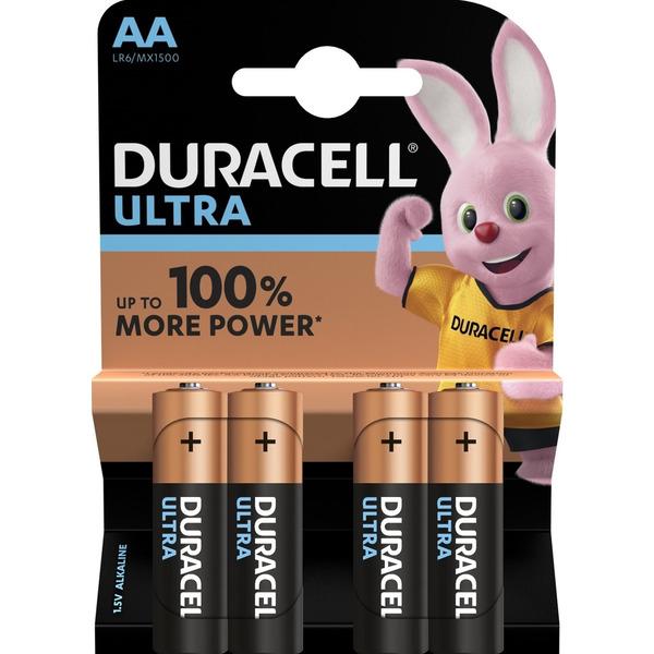 Duracell Ultra Alkaline Batterie LR6 (Mignon/AA), 4er Pack