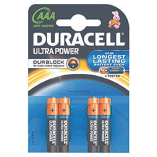 Duracell Ultra Alkaline Batterie LR03 (Micro/AAA), 4er Pack