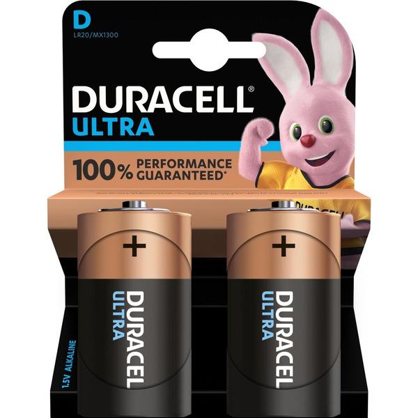 Duracell Ultra Alkaline Batterie LR20 (Mono/D), 2er Pack