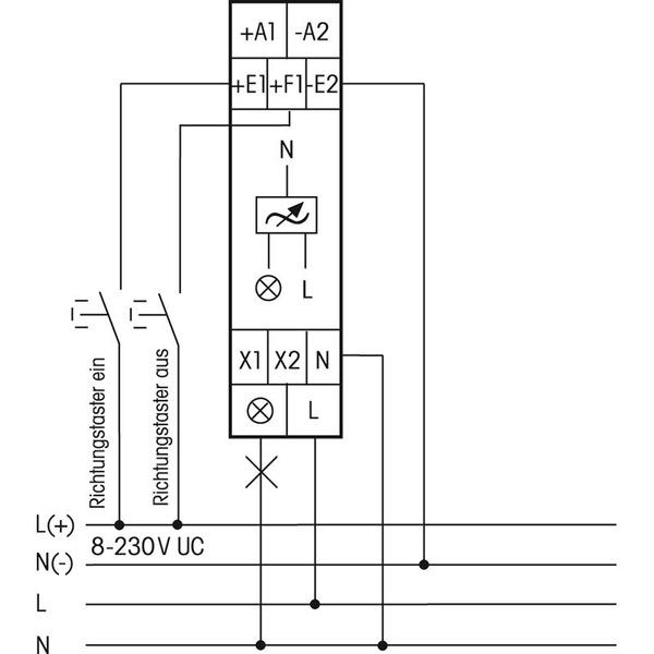 eltako EUD12D-UC Digital einstellbarer Multifunktions-Hutschienendimmer