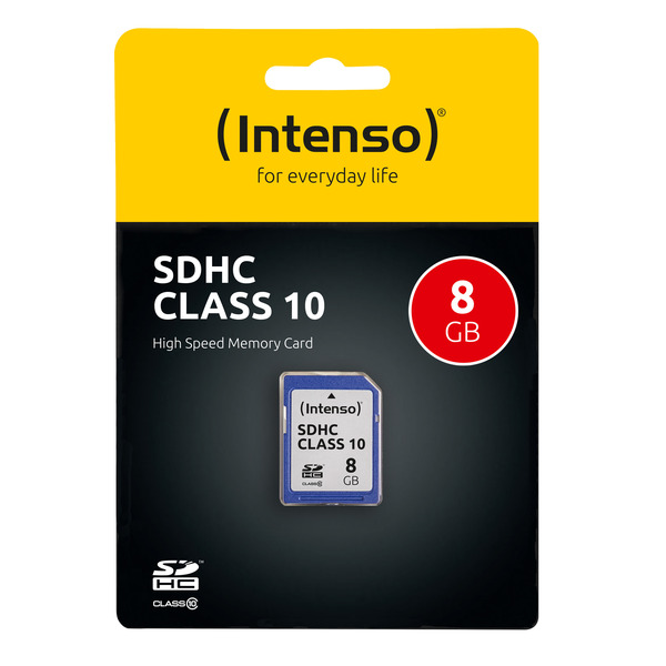 Intenso Speicherkarte SDHC, Class 10, 40 MB/s, 8 GB