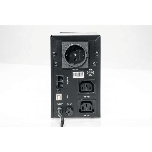 Energenie USV-Anlage mit LCD Anzeige, 850 VA, schwarz