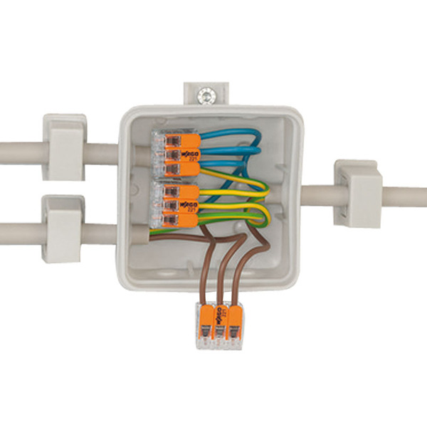 Wago 221-415 COMPACT Verbindungsklemme 5x 4 mm², 25 Stück