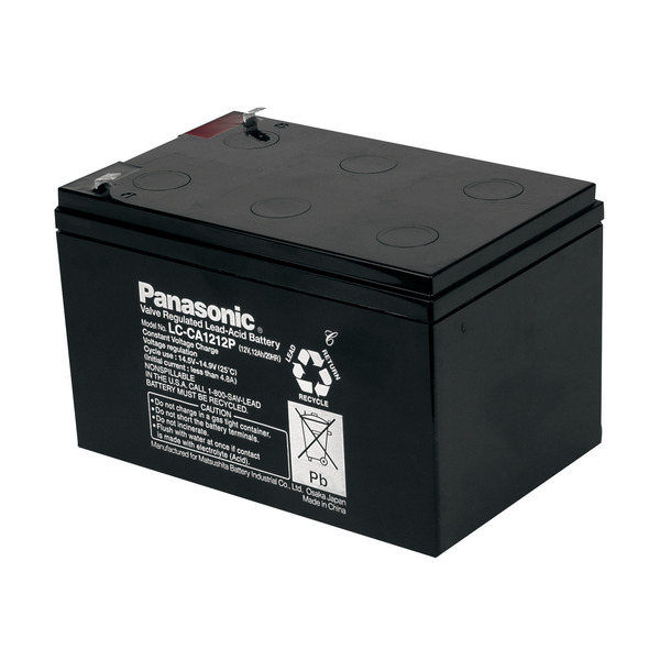 Panasonic Blei-AGM-Akku LC-CA1212P1, 12V, 12Ah, zyklenfest, wartungsfrei