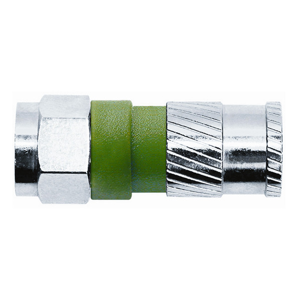 Axing F-Compression-Stecker CFS 97-48 , für Dielektrikumsdurchmesser 4,9 mm
