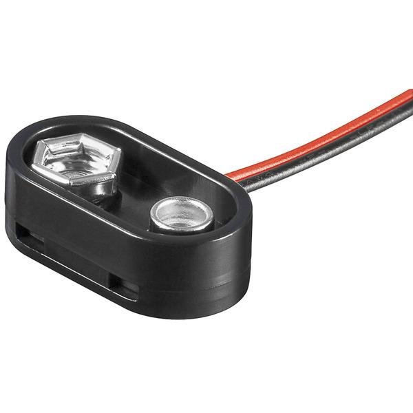 Batterieclip für 9 V Blöcke, High-Quality, I-Form