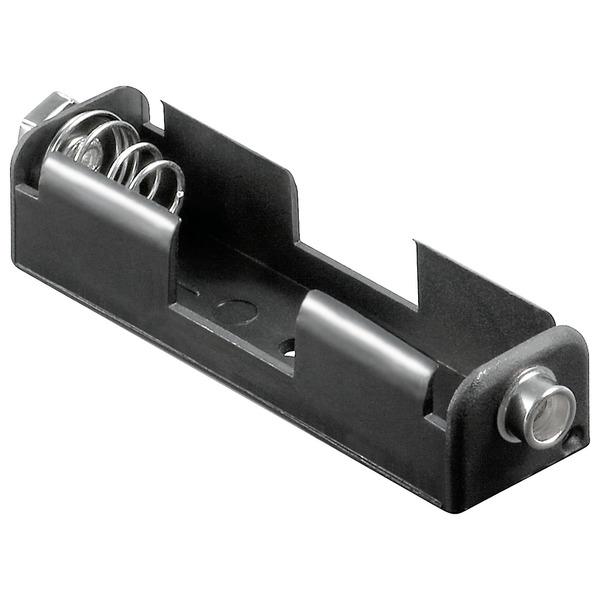 Batteriehalter, 1x Mignon, Druckknopf